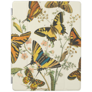 Colorful Gathering of Butterflies and Caterpillars iPad Cover