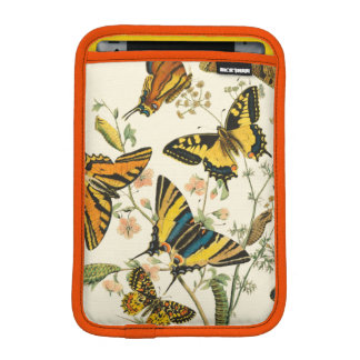 Colorful Gathering of Butterflies and Caterpillars iPad Mini Sleeve