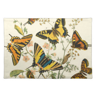 Colorful Gathering of Butterflies and Caterpillars Placemat