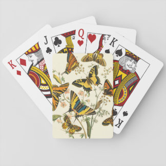 Colorful Gathering of Butterflies and Caterpillars Playing Cards