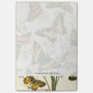 Colorful Gathering of Butterflies and Caterpillars Post-it Notes