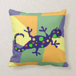Colorful Gecko Art Cushion