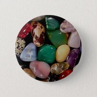 Colorful Gem Stones 6 Cm Round Badge