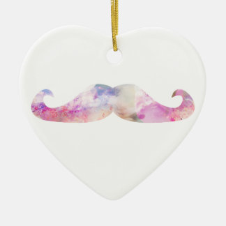 Colorful gentelman mustaches hipsters christmas ornament
