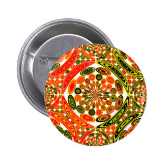 Colorful geometric abstract 6 cm round badge