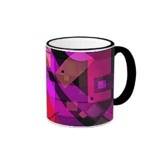 Colorful Geometric Abstract for Gifts & Home! Ringer Mug