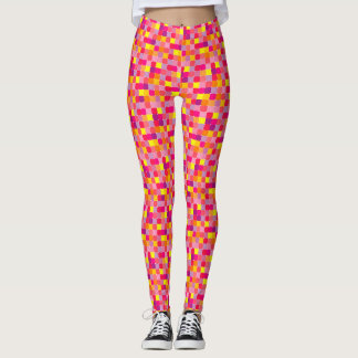 Colorful geometric abstract pattern leggings