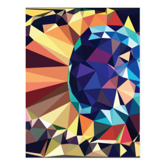 Colorful Geometric Abstraction 2 Postcard