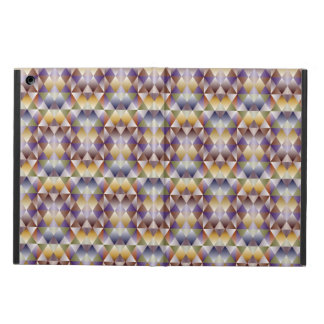 Colorful geometric brown square  Plaid Cover For iPad Air