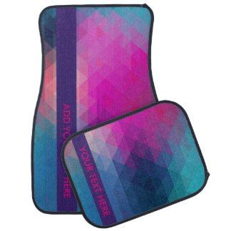 Colorful Geometric Car Mat - Add Your Text