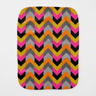 Colorful Geometric Chevron Pattern Burp Cloth