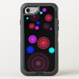 Colorful Geometric Circles OtterBox Defender iPhone 8/7 Case