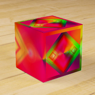 Colorful Geometric Design Favour Box