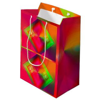 Colorful Geometric Design Medium Gift Bag