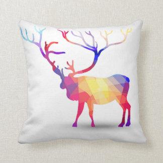 Colorful Geometric Elk Throw Pillow