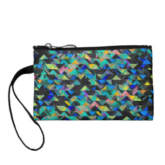 Colorful Geometric Explosion Coin Purse