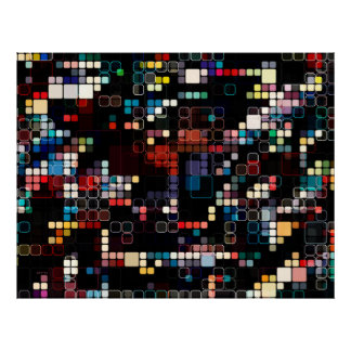 Colorful Geometric Graphic Poster