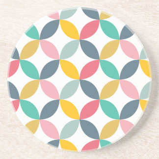 Colorful Geometric  Modern Pattern Coaster