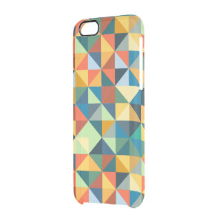 Colorful Geometric Pattern Clear iPhone 6/6S Case
