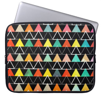 Colorful geometric pattern laptop sleeve