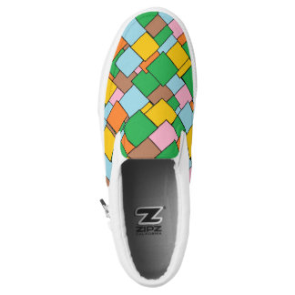Colorful Geometric Pattern Slip on Shoes