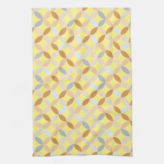 colorful geometric pattern tea towel