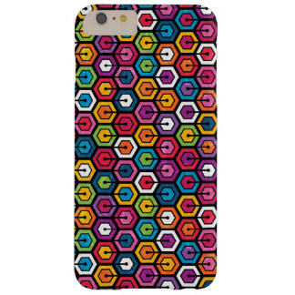 Colorful geometric pattern with hexagons barely there iPhone 6 plus case