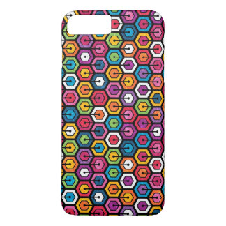 Colorful geometric pattern with hexagons iPhone 8 plus/7 plus case