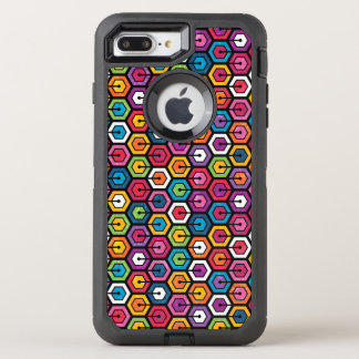 Colorful geometric pattern with hexagons OtterBox defender iPhone 8 plus/7 plus case