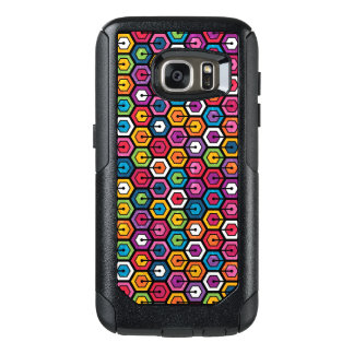 Colorful geometric pattern with hexagons OtterBox samsung galaxy s7 case