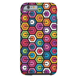 Colorful geometric pattern with hexagons tough iPhone 6 case