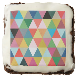Colorful Geometric Patterned Brownies