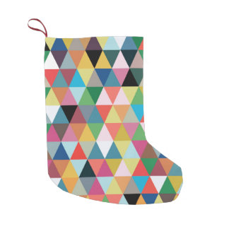 Colorful Geometric Patterned Christmas Stocking