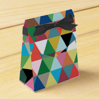 Colorful Geometric Patterned Favor Box Party Favour Box