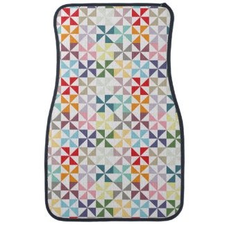 Colorful Geometric Pinwheel Car Mat
