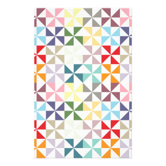 Colorful Geometric Pinwheel Stationery
