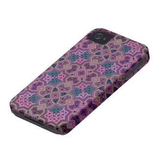 Colorful Geometric ~ Purple iPhone 4 Cases