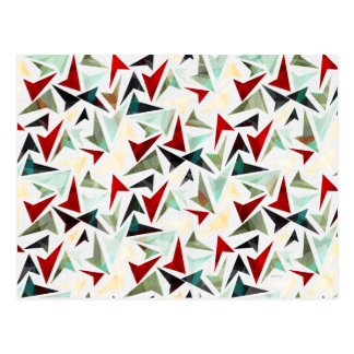 Colorful Geometric Shapes Pattern Post Cards