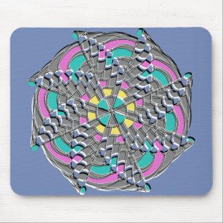 Colorful Geometric Swirl - Mouse Mat