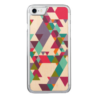 Colorful Geometric Triangle Pattern Carved iPhone 8/7 Case