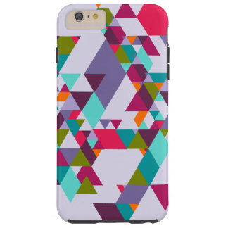 Colorful Geometric Triangle Pattern Tough iPhone 6 Plus Case