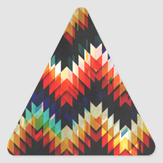 Colorful Geometric Weave Sticker