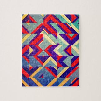Colorful geometrical jigsaw puzzle