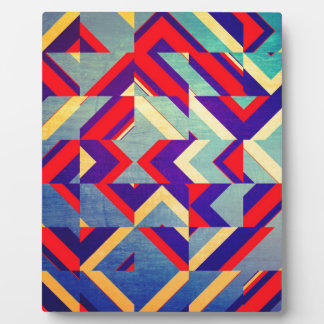 Colorful geometrical plaque