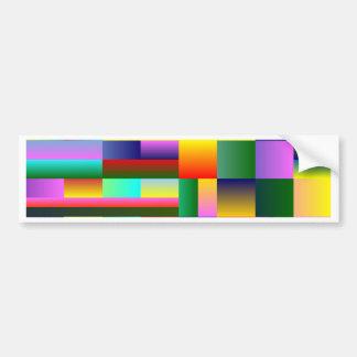 Colorful Geometrical Symmetry Bumper Sticker