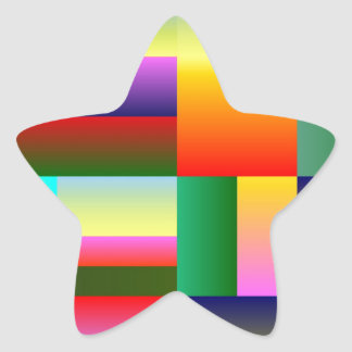 Colorful Geometrical Symmetry Star Sticker