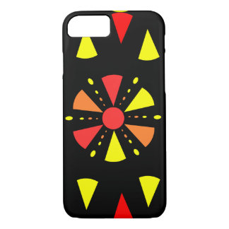 Colorful geometry in red and yellow iPhone 7 case