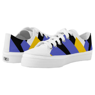 Colorful geometry printed shoes