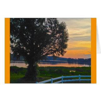 Colorful Georgia Sunset - Lake Acworth Card
