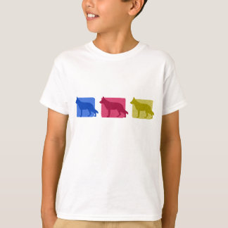 Colorful German Shepherd Silhouettes T-Shirt